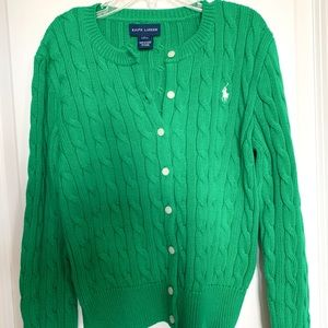 Deep Green Polo Sweater